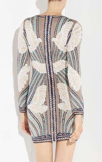 Zoe Dove Knit Jacquard Dress