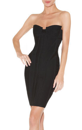 Mikino Strapless Beaded Bandage Dress