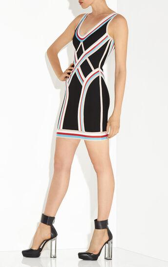 Bryanne Textured Color-Blocked Dress
