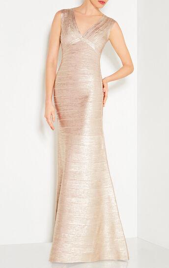 Mabel Metallic Foil Gown
