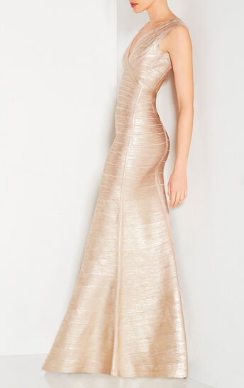 Mabel Metallic Foil Gown