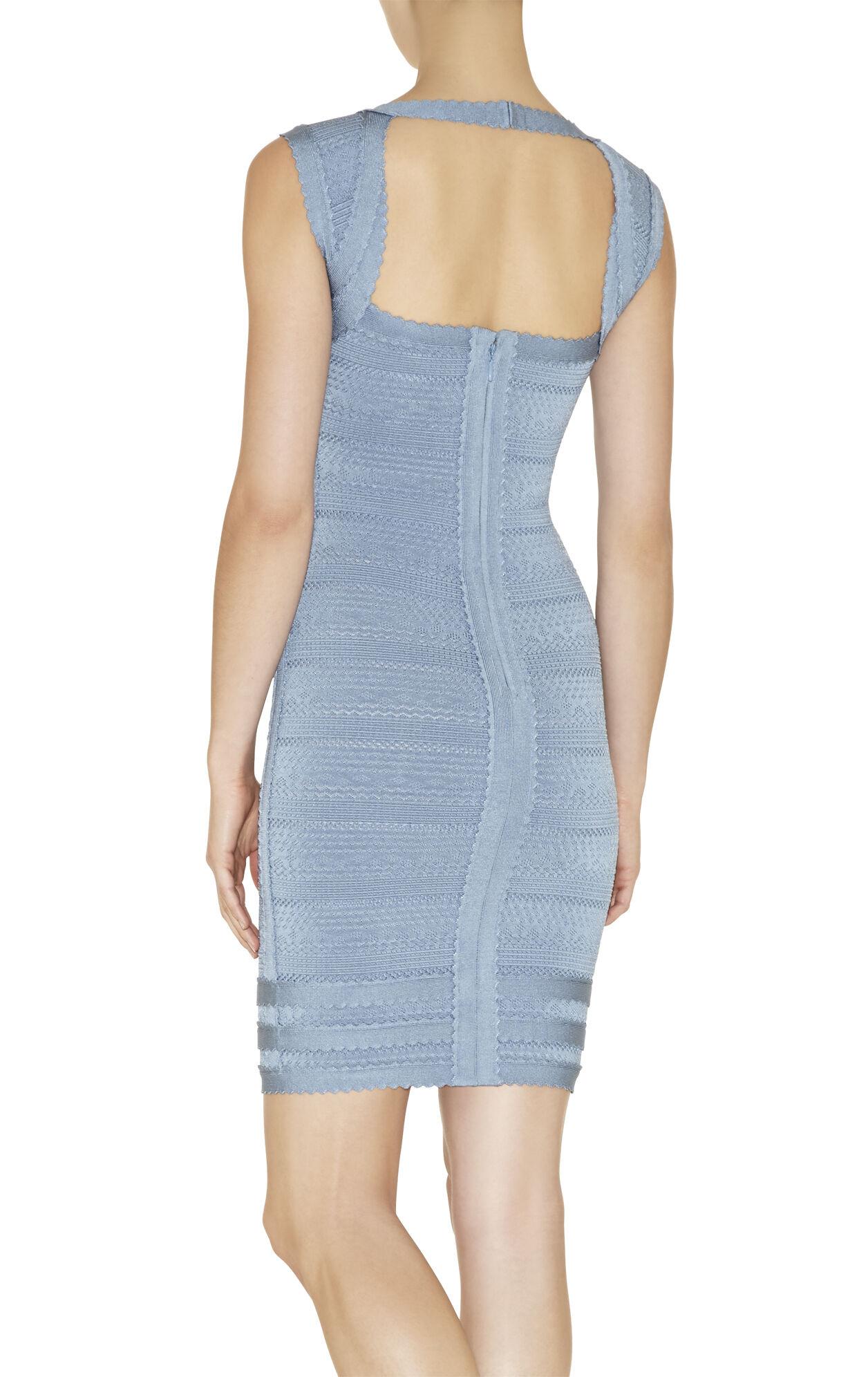 Sarai Lace-Stitched Scalloped-Trim Dress