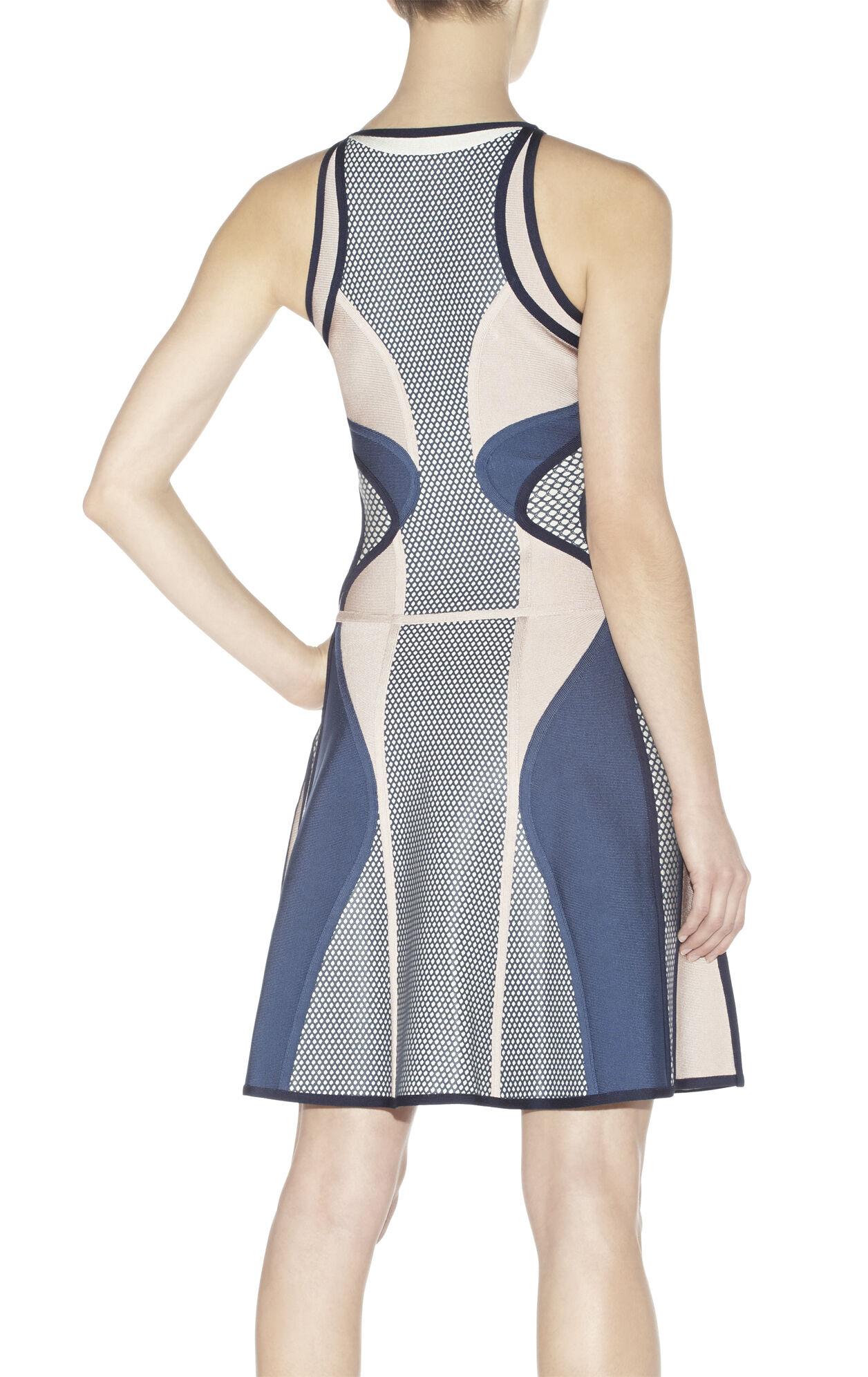 Natia Colorblocked Puffa-Print Dress