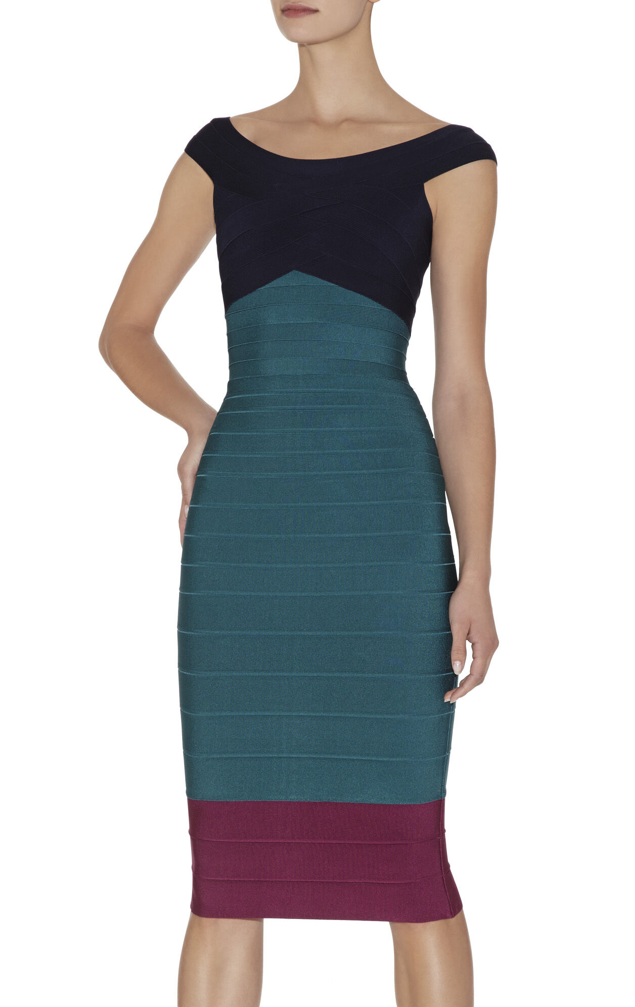 Lania Multi Colorblocked Dress