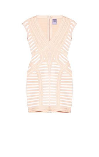 Katina Striped Lacing Detail Dress