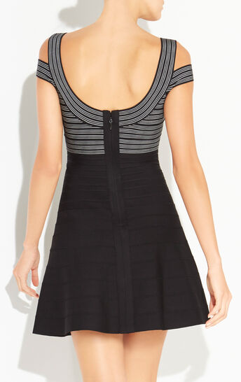 Sveta Jacquard Stripe Detail Dress