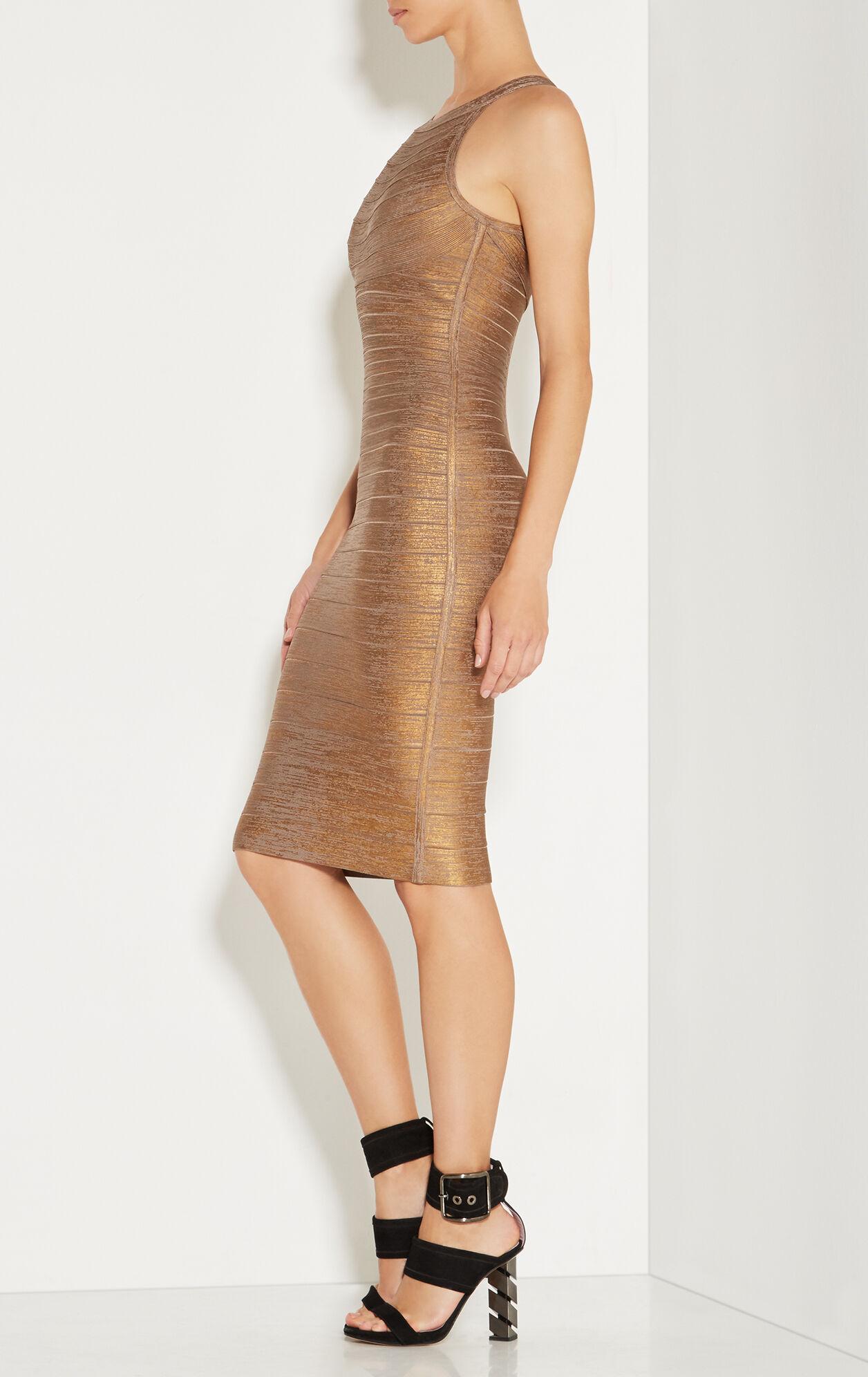 Renata Woodgrain Foil Print Dress