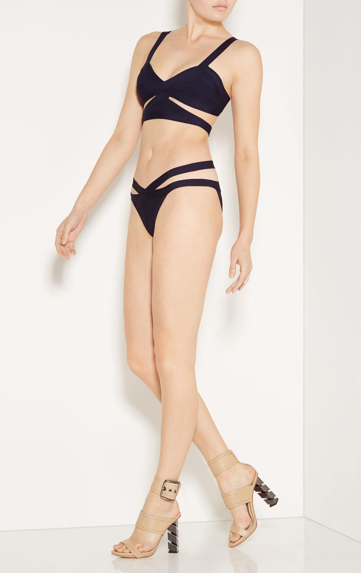 Bara Basketweave Bandage Bikini Top