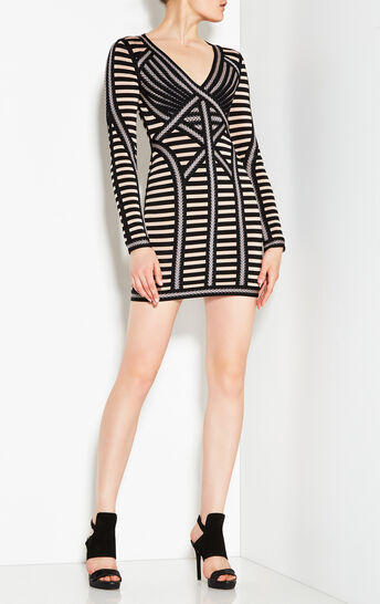 Stella Striped Lacing Detail Dress