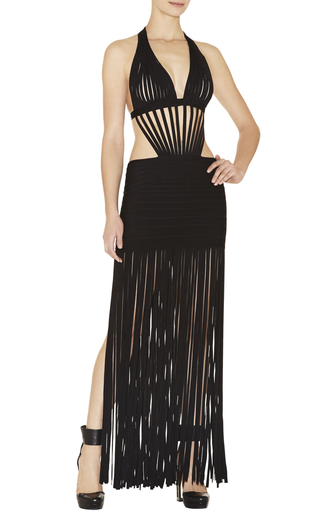 Yousra Draped-Bandage Dress