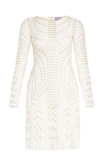 Liliana Eyelet Fringe Dress