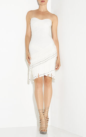 Belina Fringe Metal Eyelet Dress