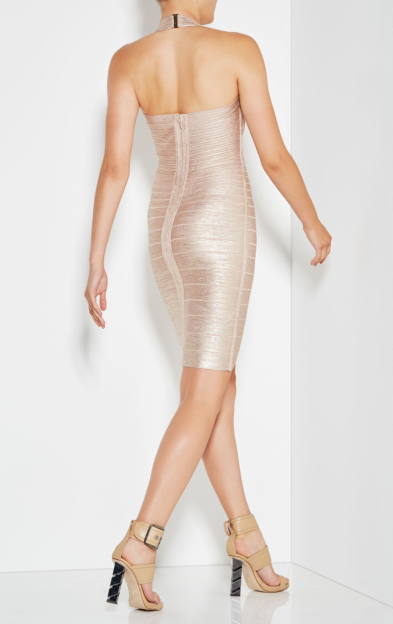 Jessilyn Woodgrain Foil Print Dress