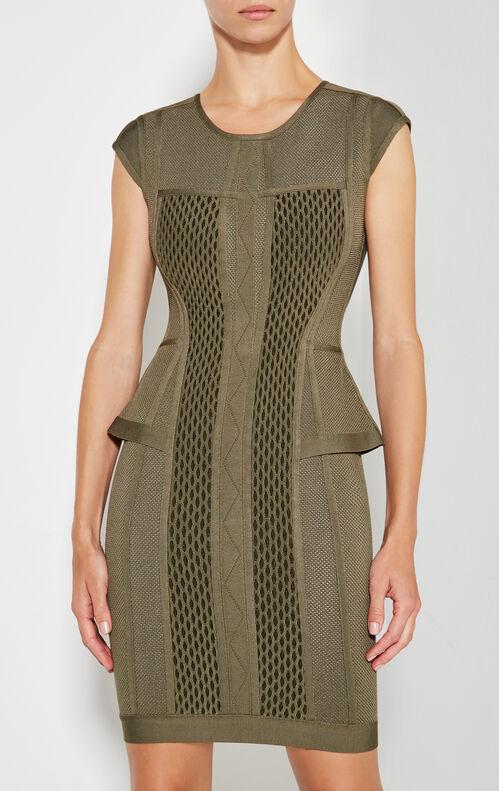 Astrid Multi-Texture Mesh Dress
