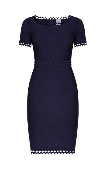 Ariana Diamond Open-Applique Dress