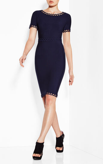 Ariana Diamond Open-Applique Dress