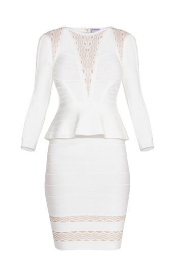 Tarha Crochet Jacquard Cutouts Dress