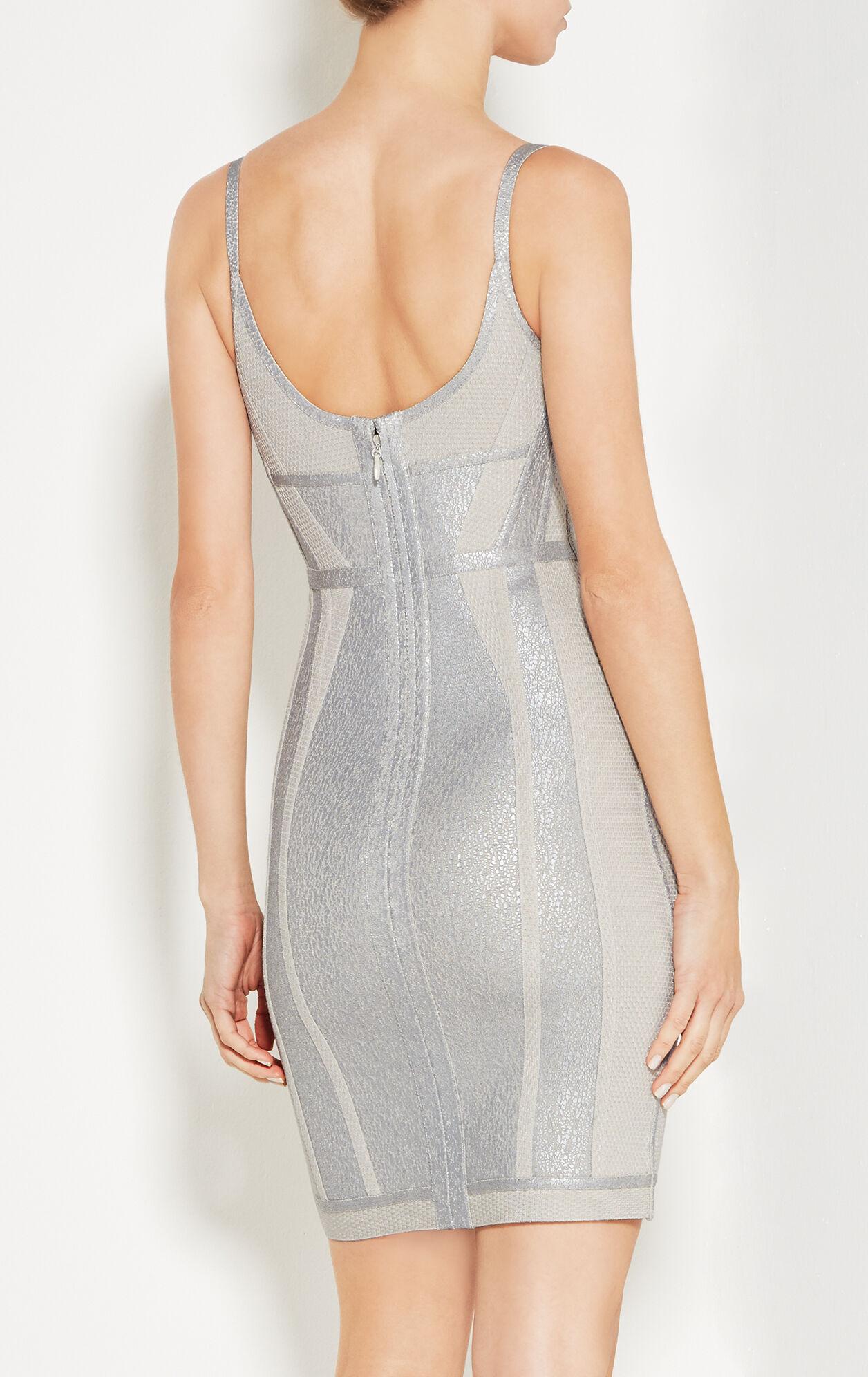 Jener Crackled Metallic Foil Dress