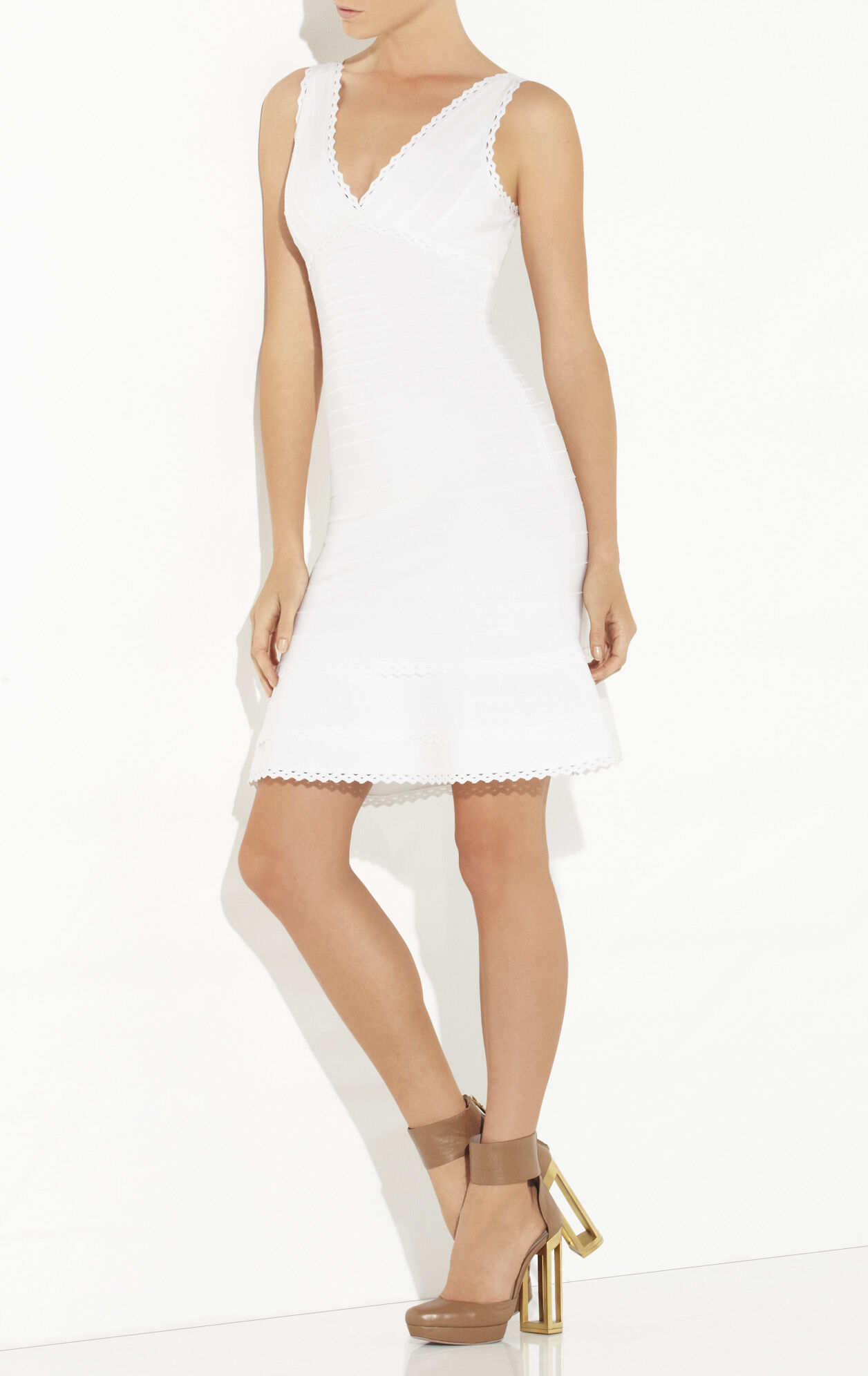 Evelyne Lace Scallop Dress
