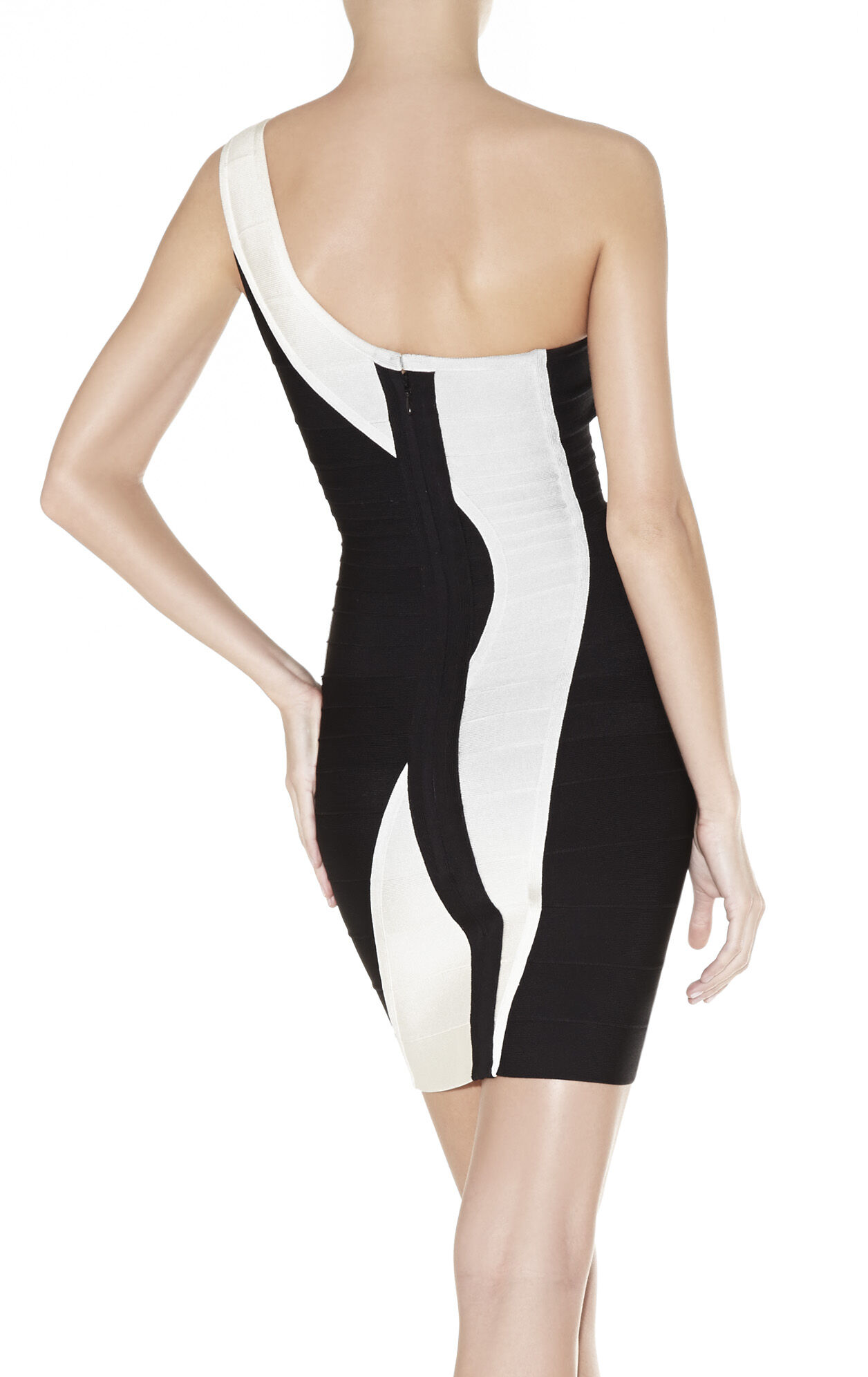 Nita Asymmetrical Bandage Dress