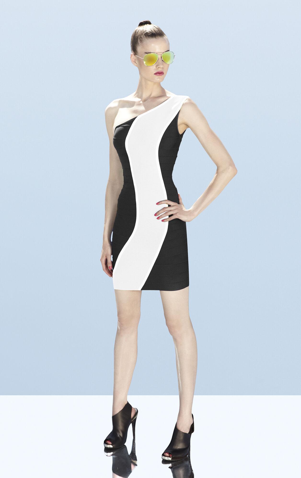 Nita Asymmetrical Bandage Dress