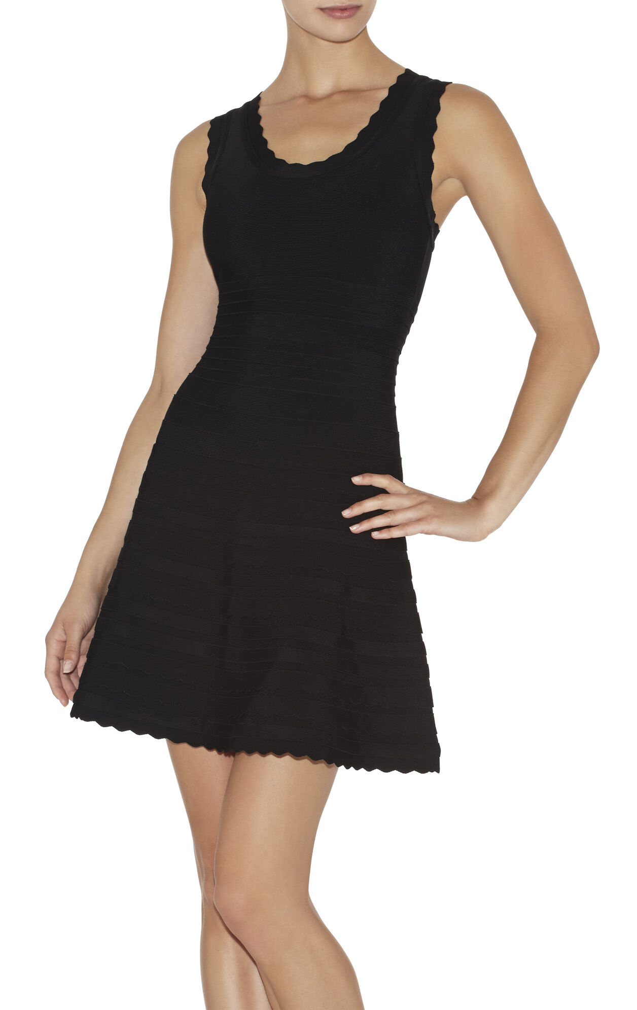 Jules Scalloped A-Line Bandage Dress