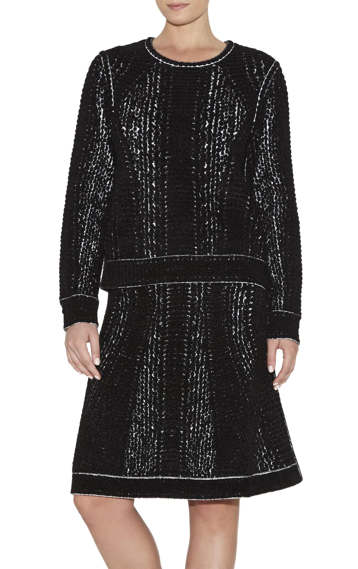 Amara Chenille Snake Jacquard Skirt