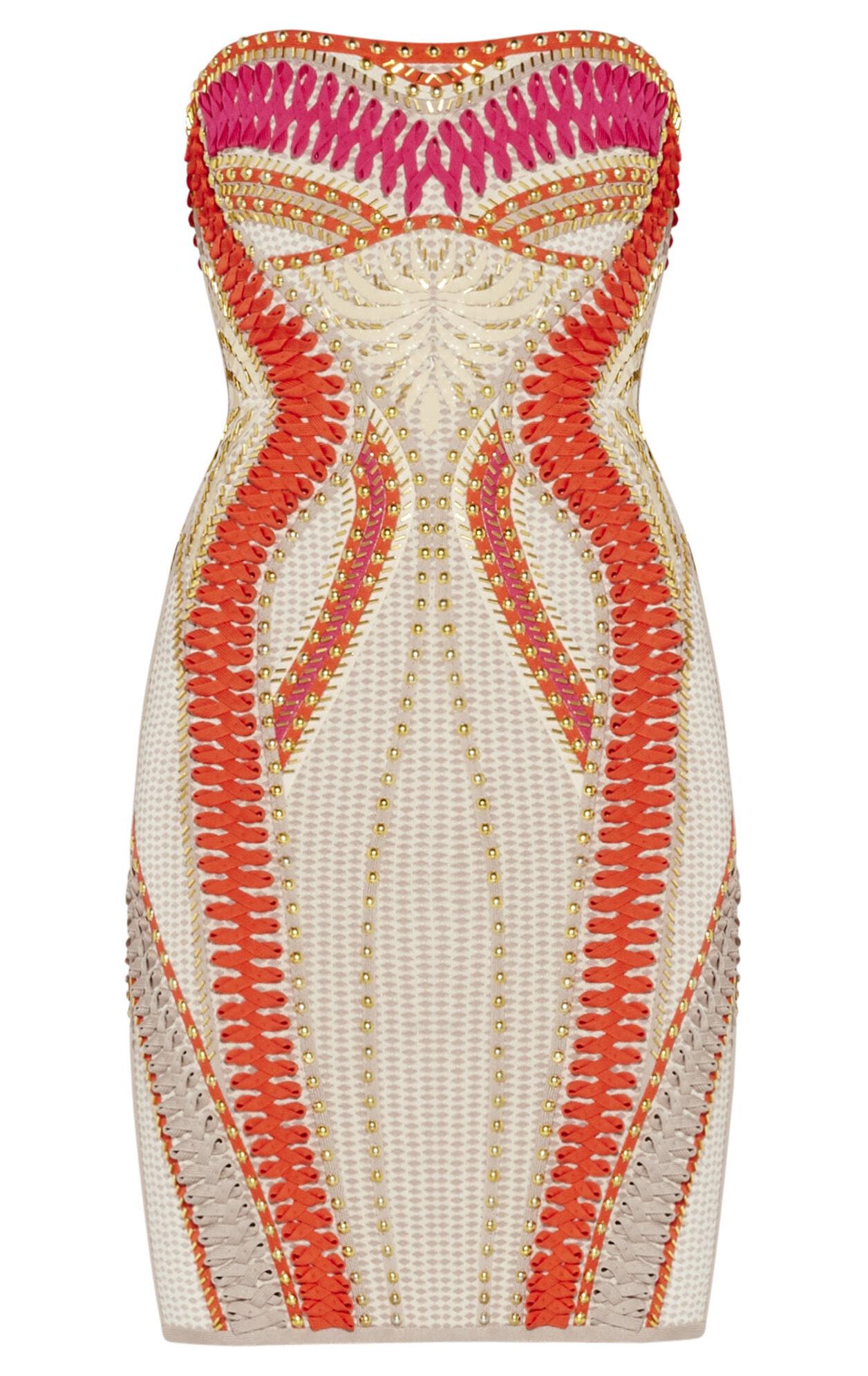 Roya Waffle Jacquard Dress
