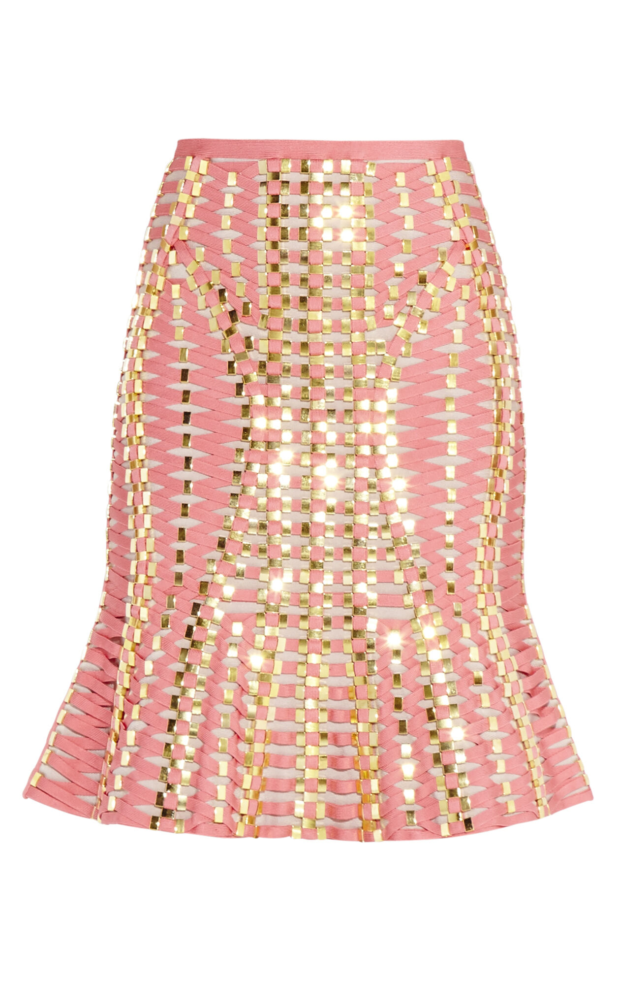 Hayleigh Lace-Up Beaded Bandage Skirt