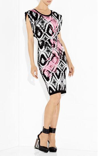 Sean Sequined Ikat Jacquard Wave Dress