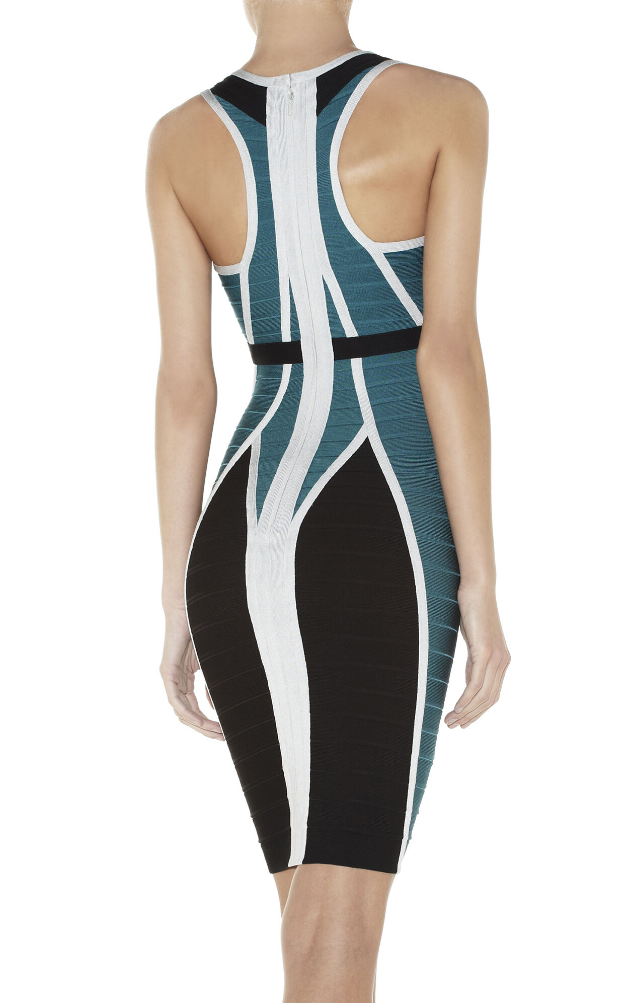 EYVETTE COLORBLOCKED BANDAGE DRESS