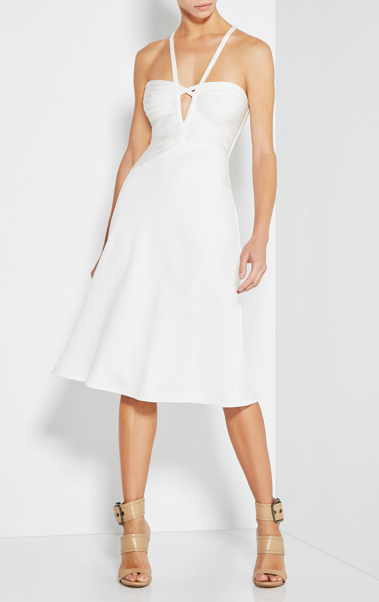 Kennedy Bandage Crepe Midi Dress