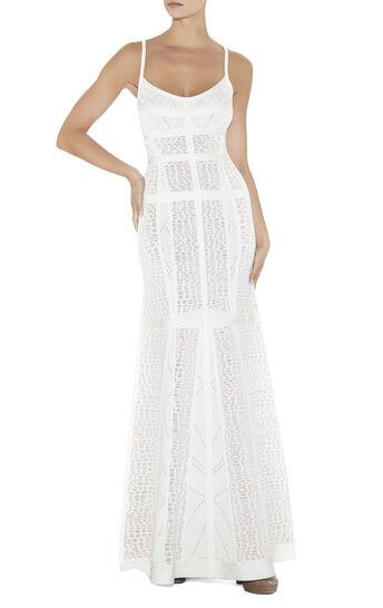 Edythe Croco Jacquard Gown