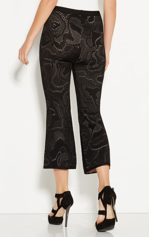 Noelle Rose Plaited Jacquard Cropped Pant