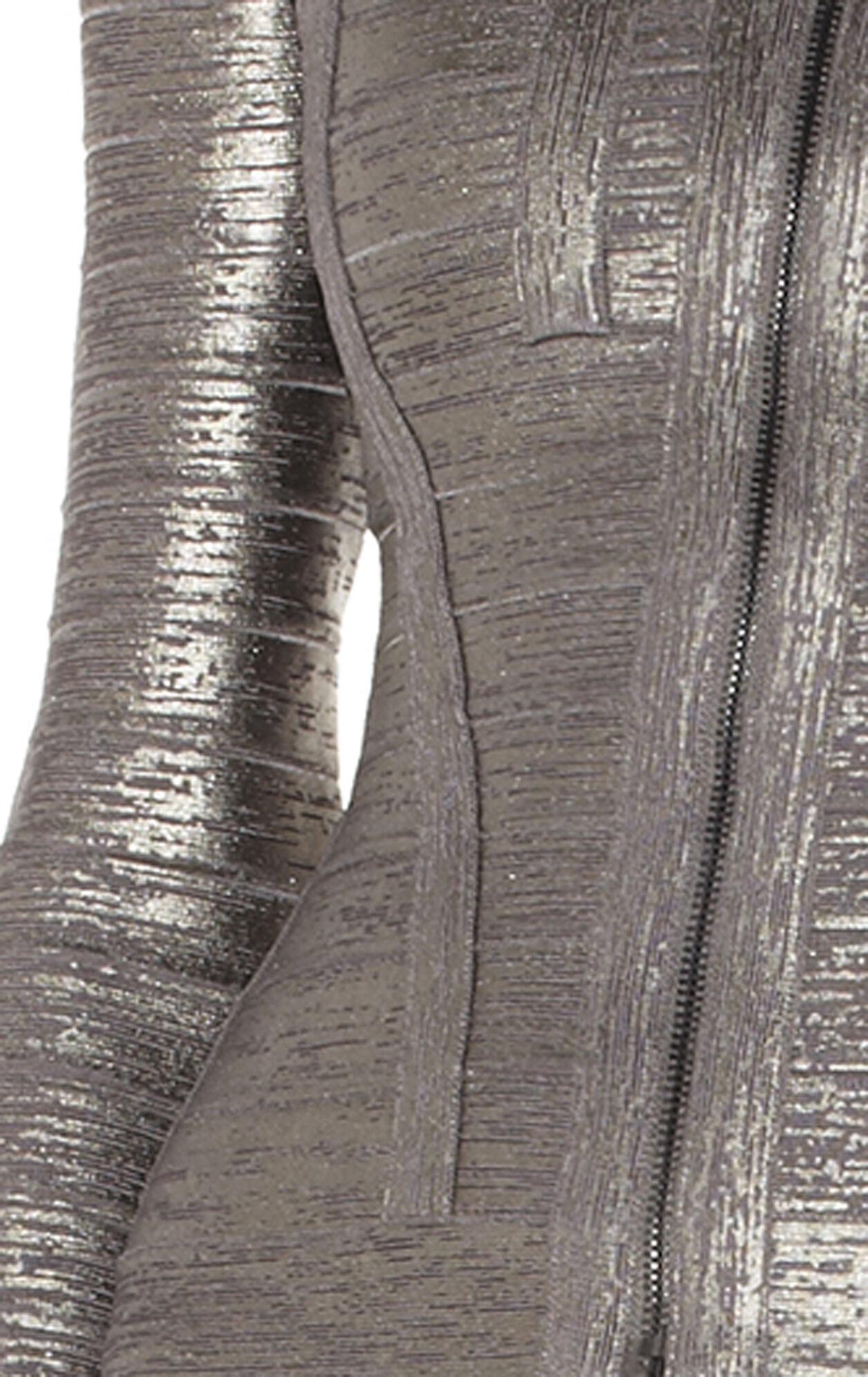 Savio Woodgrain Foil-Print Bandage Top
