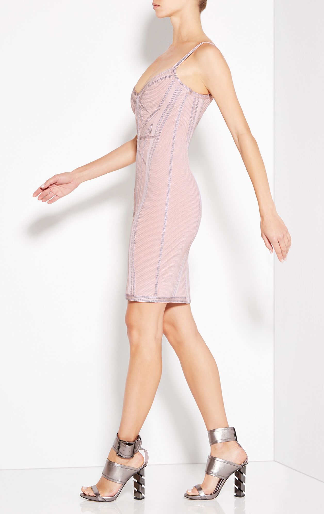 Elissa Metallic Stitch Dress