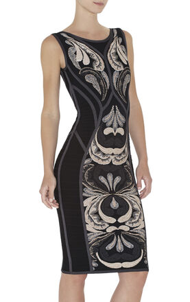 Dree Paisley Jacquard Sleeveless Dress