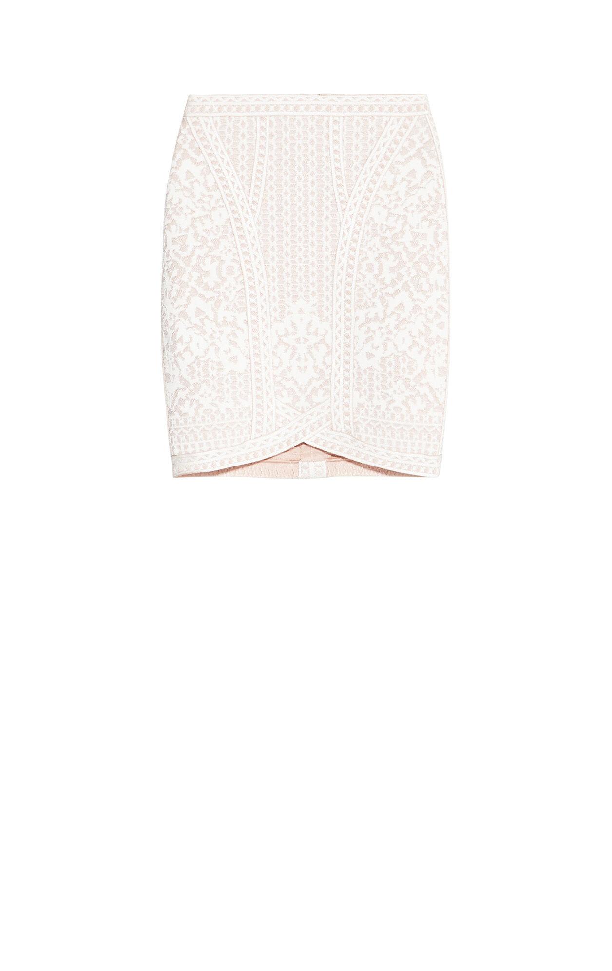 Abrianna Floral Diamond Jacquard Skirt
