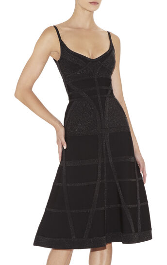 Areca Multitexture Sleeveless Dress