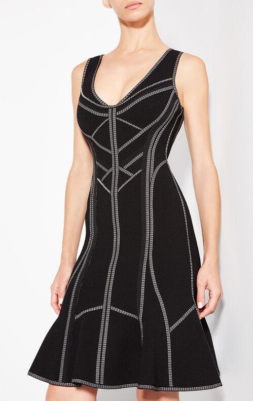 Caitlyn Metallic Stitch Dress