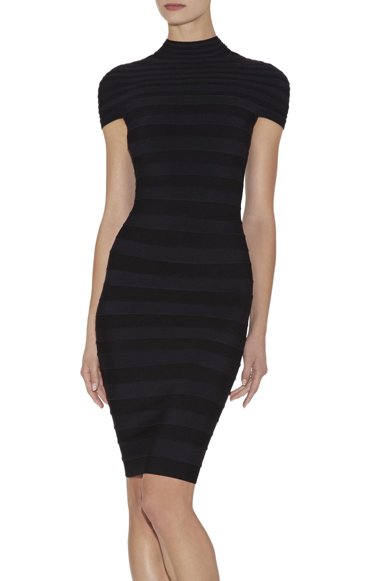 Aisha Mock-Neck Colorblocked Dress