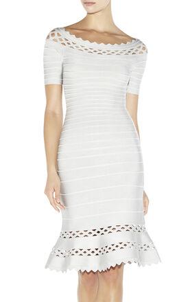 Claudia Geometric Cutout Dress