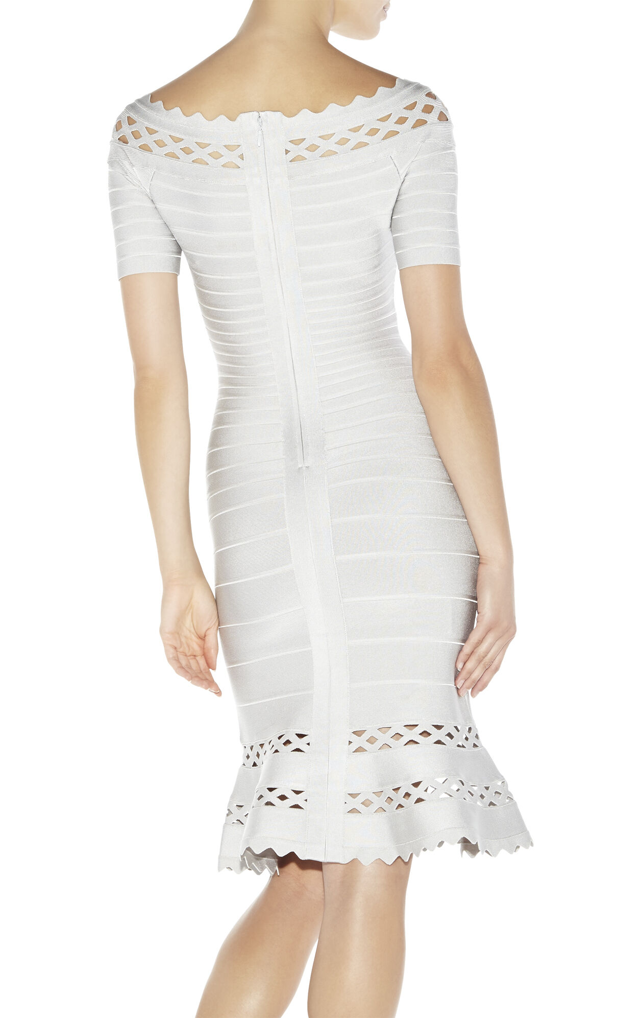 Claudia Geometric Cutout Dress