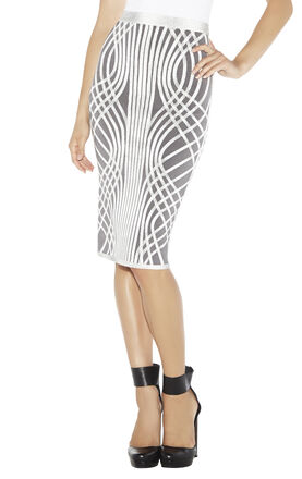 Lynde Optic Crisscross Jacquard Skirt