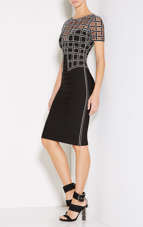 Tiana Caged Mesh Bandage Dress
