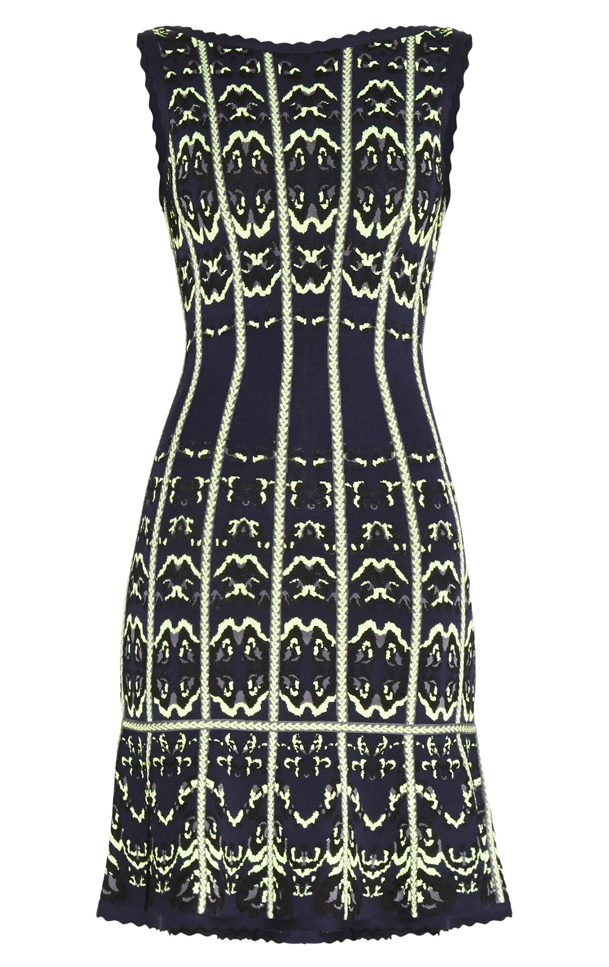 Kateryna Animal Print Jacquard Dress