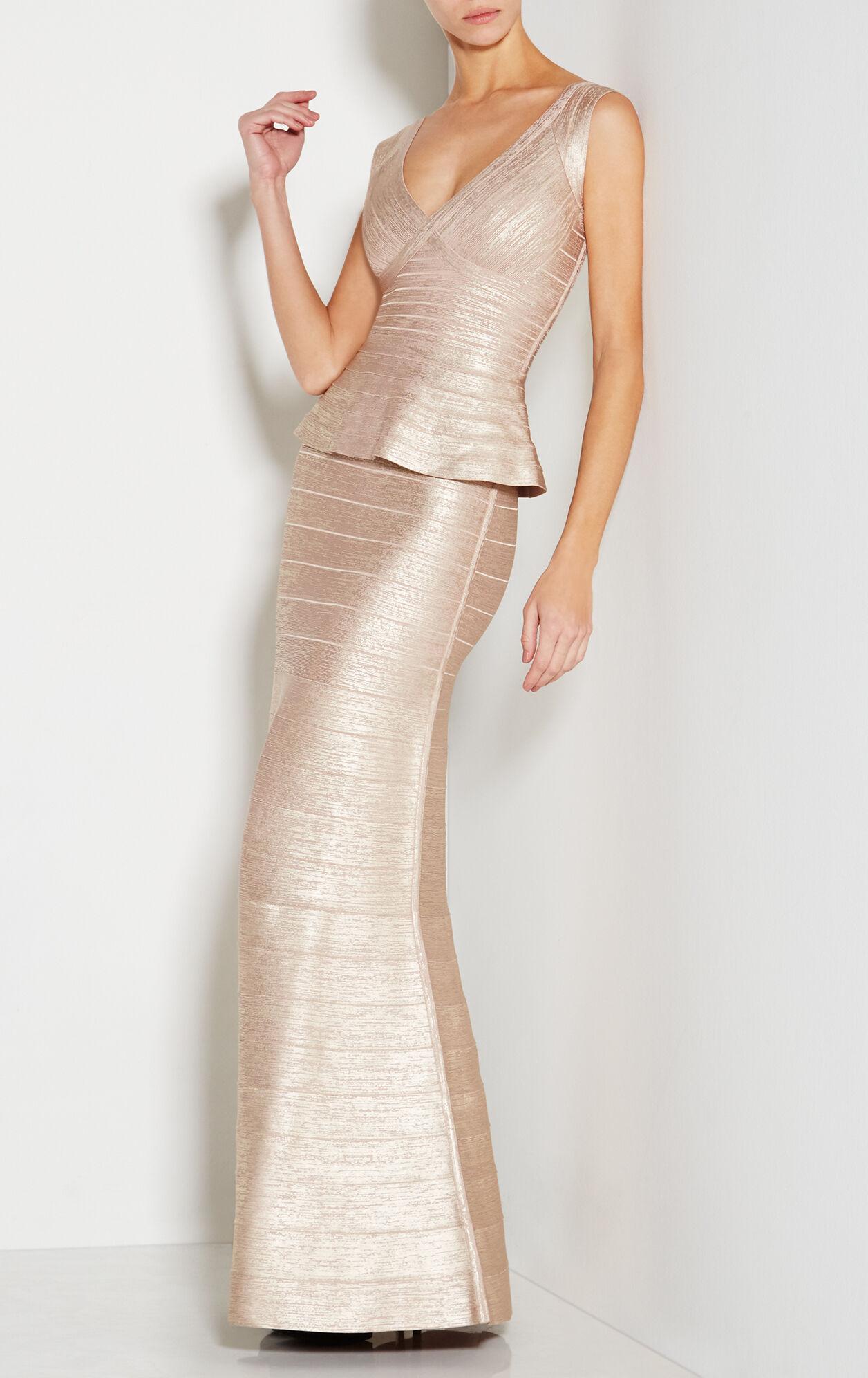 Izabela Woodgrain Foil Print Dress