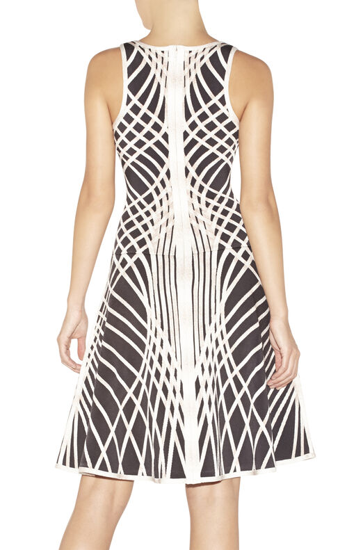 Eva Optic Crisscross Jacquard Dress