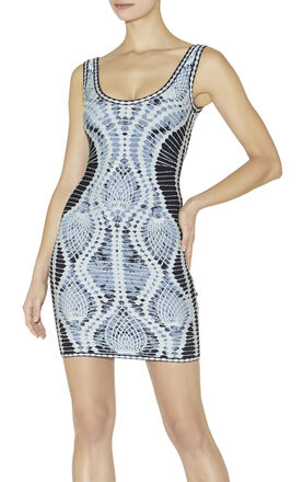 Farah Crochet Jacquard Dress