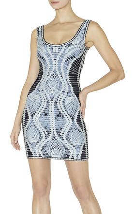 Farah Crochet Jacquard Dress